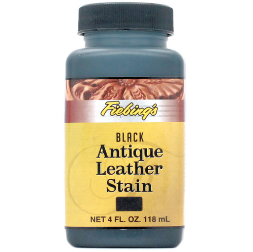 Acrylic Antique Leather Stain Black 4 oz