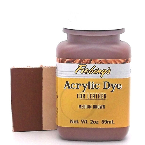 Medium Brown Leather Paint 2 oz.