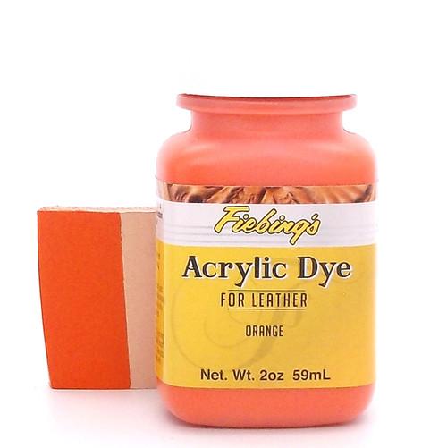 Orange Fiebing's Acrylic Leather Paint