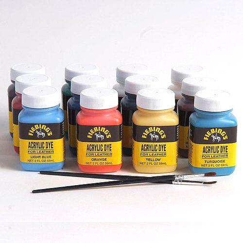 Leather Paint 12 Pack Variety