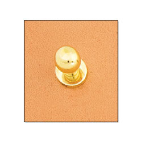 "Button Stud 1/4"" (7mm) Screwback Nickel Free Brass Plate"