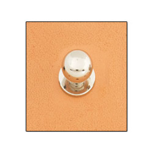 "Button Stud 1/4"" (7 mm) Screwback Nickel Free Nickel Plate"