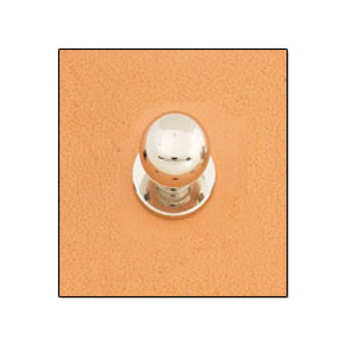"""Button Stud 1/4"""" (7 mm) Screwback Nickel Free Nickel Plate"""