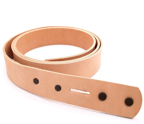 Natural Cowhide Leather Belt Blank 1-1/4""