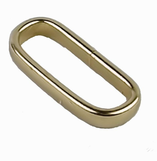 "Solid Brass Belt Loop Keeper 1"" 1126-02"