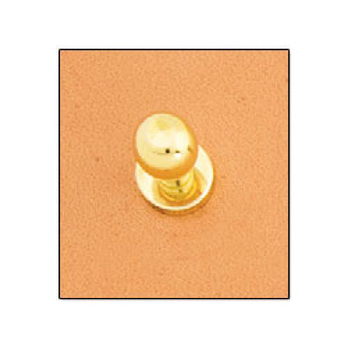 "Button Stud 5/16"" (8 mm) Screwback Nickel Free Brass Plate"