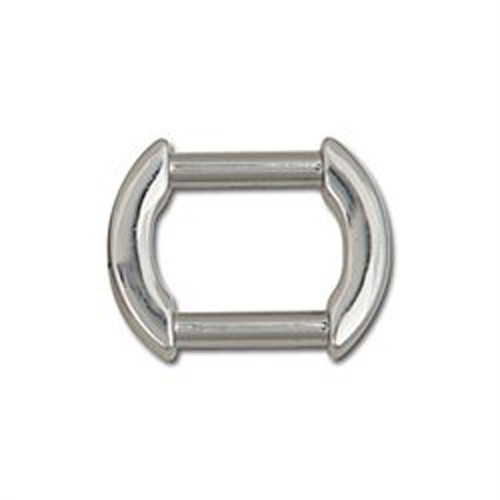 "Flat Arch Strap Ring 5/8"" Nickel Plate"