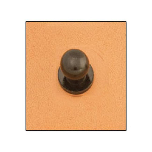 Button Stud 8mm Screwback Black