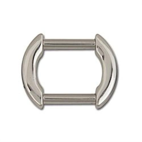 "Flat Arch Strap Ring 1"" (2.5 cm) Nickel Plate 11403-03"