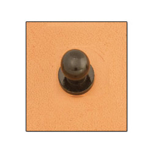 Button Stud 10 mm Screwback Black