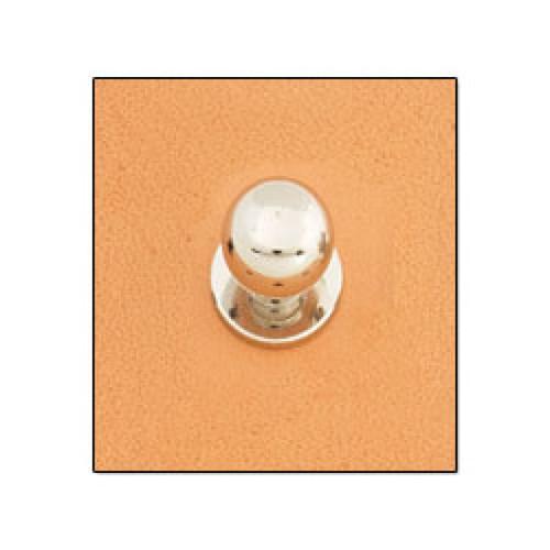 Button Stud 12mm Screwback Nickel
