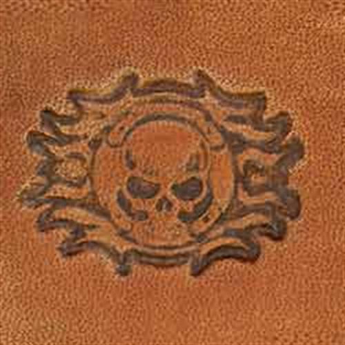 Skull Cross Flame Stamp
