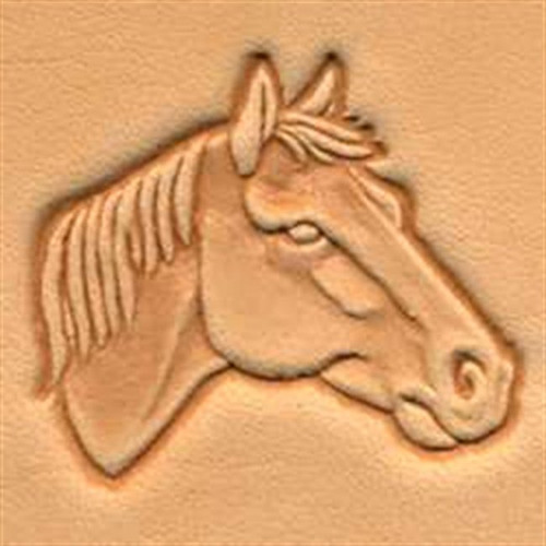3d Horse Head Right Stamp