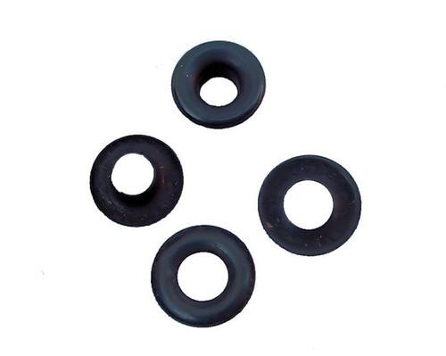 "Black Steel Grommets #0 1/4"""