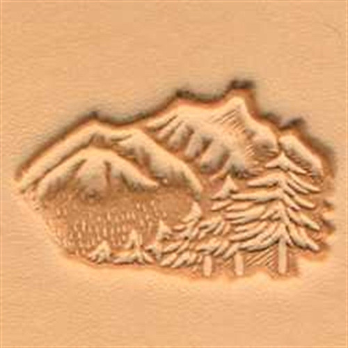 Mountain and Trees 3D Stamp