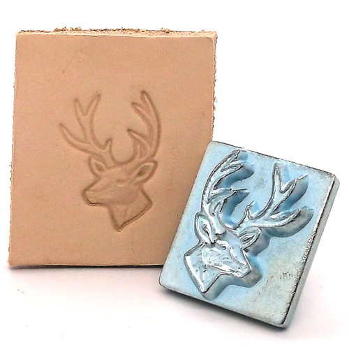 White Tail Deer 3-D Leather Stamping Tool with Stamp