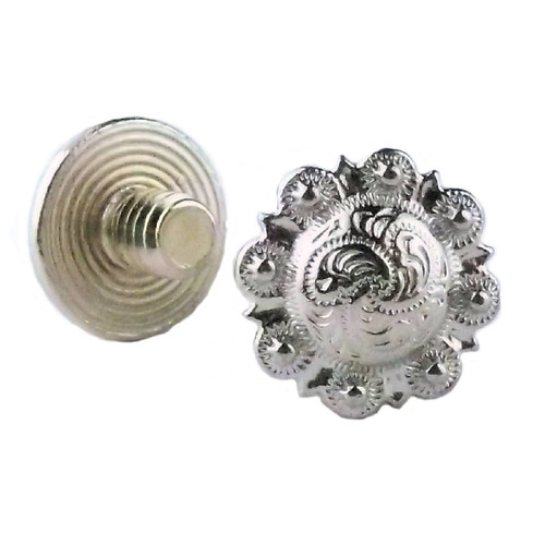 "1/4"" Chicago Screws Nickel 10 Pack"