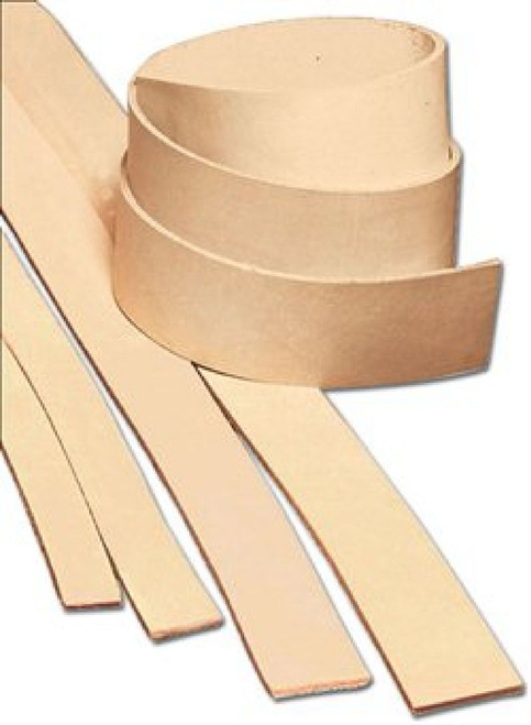 Natural Heavyweight Cowhide Leather Strip 1-1/2""