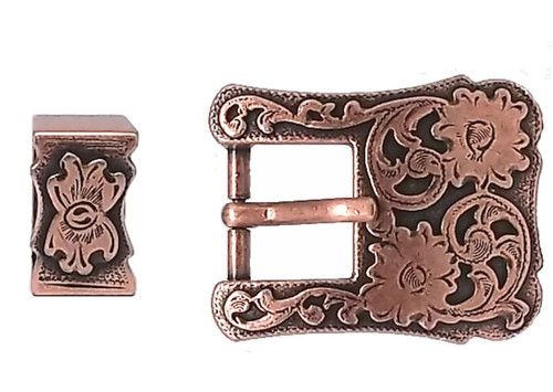 Buckle and Keeper Copper Plated