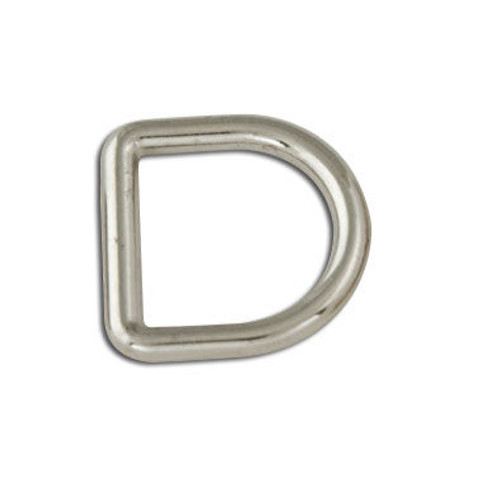 """Decorative Solid D-Rings 1/2"""" (13mm) Nickel Free Plate 6/pk 1167-02"""