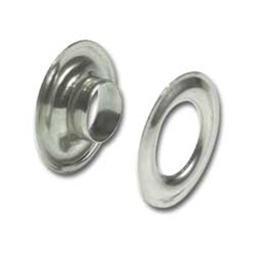 """Nickel on Solid Brass Grommets #2 3/8"""" 10 Pack 1283-02"""
