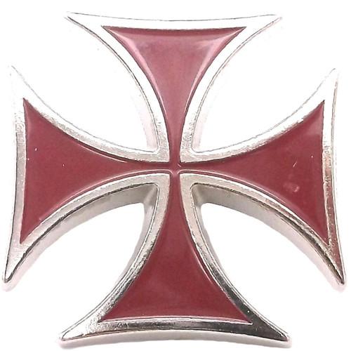 "Red Epoxy Iron Cross Screw Back Concho 1"" (2.5 cm) 7758-06"