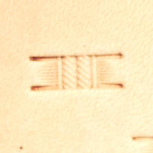 "Basketweave Stamping Tool PX001 Impression Size 9/16"" L (1.4 cm) Hide Crafter"