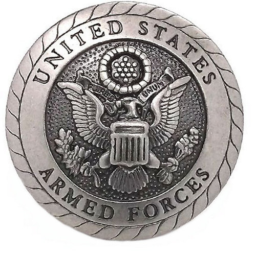 UNITED STATES Air Force Screw back Concho By Silver Creek Leather Co NEW