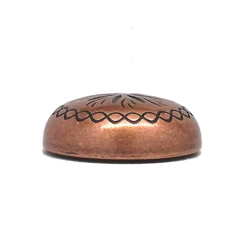 "Sunburst 1"" x 3/16"" Copper Plated Concho Side"