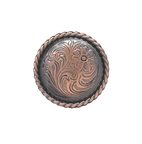 "Rose Flower Antique Copper Screwback Concho 1785C 1"" (2.5 cm) by Stecksstore"