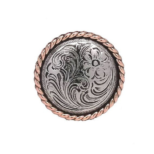 "Concho 1-1/4"" Antique Silver Copper Rope Edge Screwback 1786NC by Stecksstore"