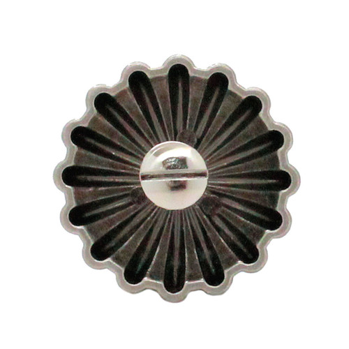 "Parachute Concho Antique Nickel 1"" Back"