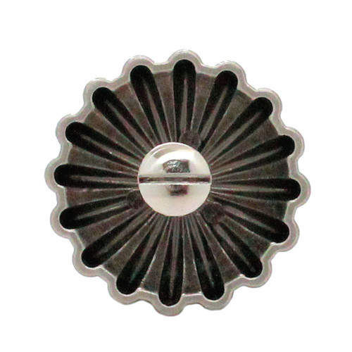 "Parachute Concho Antique Nickel 1.25""  Back"