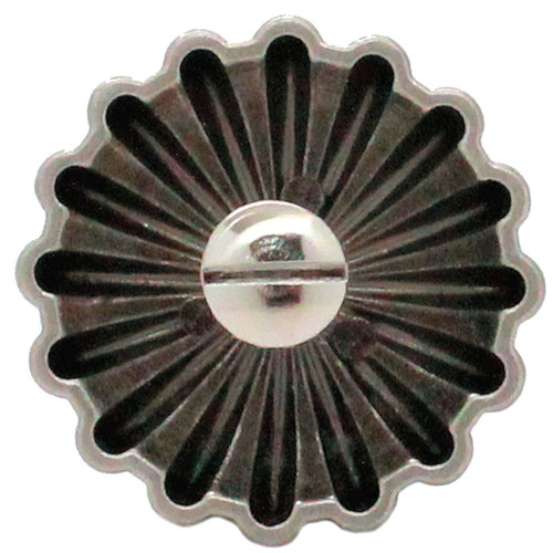 "Parachute Concho Antique Nickel 1.5"" Back"
