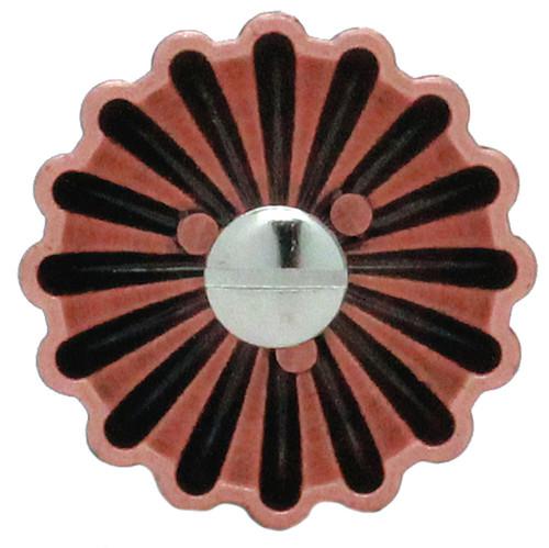 """Parachute Concho Antique Copper 1.5"""" Back"""