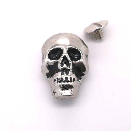 """Skull Concho Nickel with Black 1"""" 440-21 by Stecksstore"""