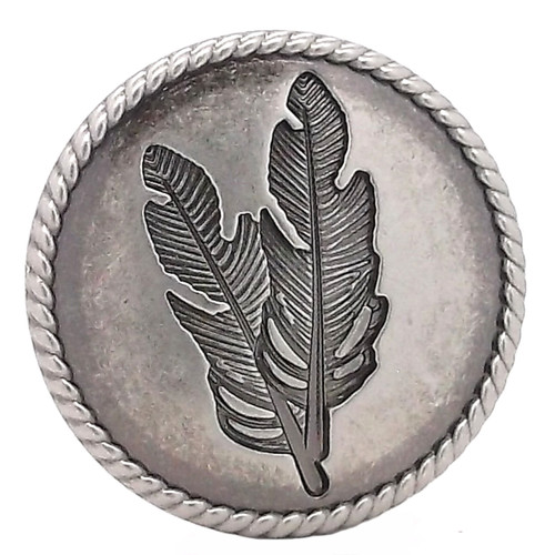 Feather Concho Antique Nickel