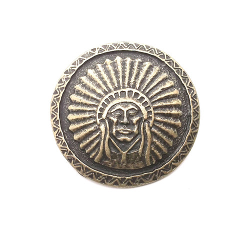 2 Vintage Brass Oval Southwestern Brass Screw Concho Conchos Belt Saddle Purse