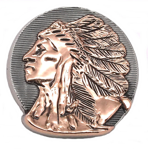 Left Facing Chief Head Concho Antique Nickel Rose Gold