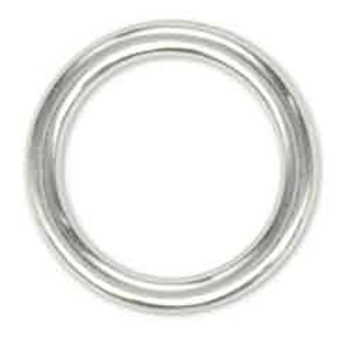 """Solid Ring 1"""" Nickel Plated"""