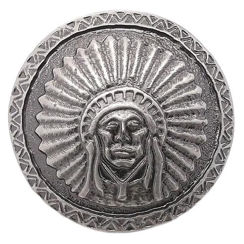 "Southwest Chief Antique Nickel Concho Screwback 1.75"" 7582-21"