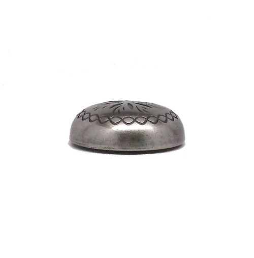 "Sunburst 3/4"" x 1/4"" Antique Nickel Plated Screwback Concho 2996AN Stecksstore"