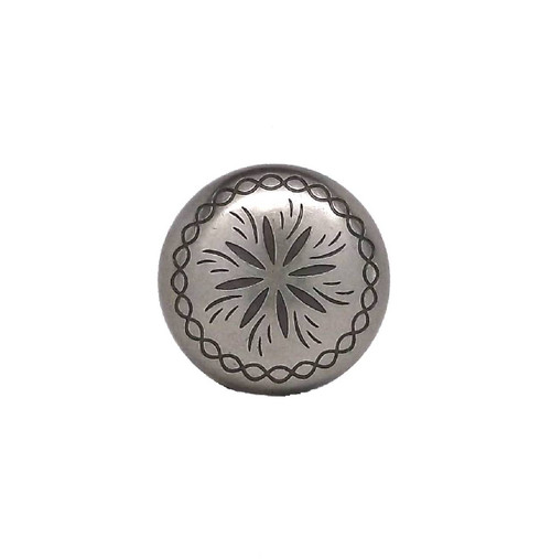 "Sunburst 3/4"" x 1/4"" Antique Nickel Plated Screw back Concho Top"