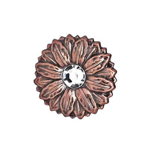 """Concho Synthetic Crystal 1"""" Antique Copper Screwback 2907C by Stecksstore"""