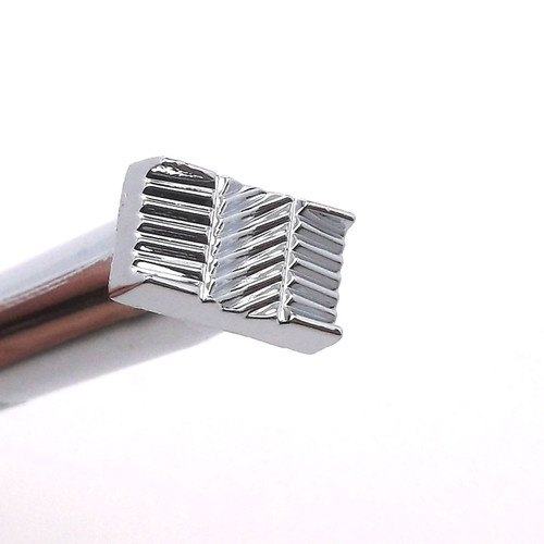 "X510 Basketweave Leather Stamp 1/2"" Long by Stecksstore"