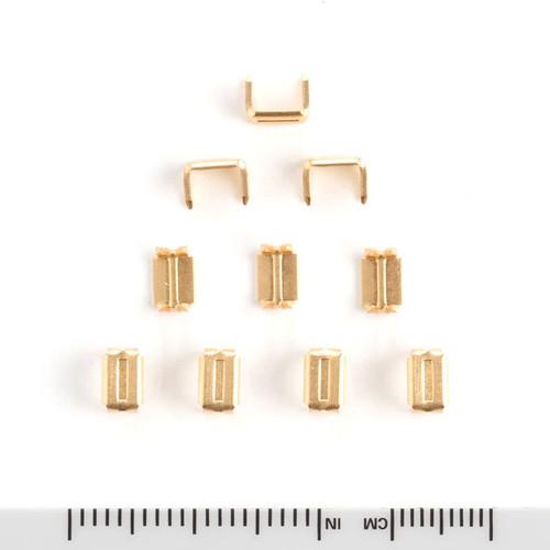 #5 Brass Zipper Bottom Stops Size