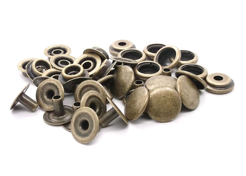 Line 24 Antique Brass Snap 10 Pack 1263-15