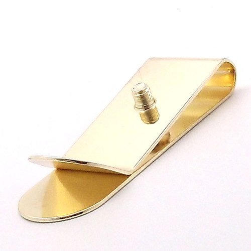 Money Clip with Concho Screw Brass Plated
