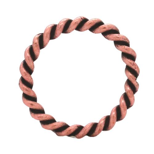 "Rope Border Antique Copper Ring 1"""