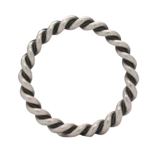"Rope Border Antique Nickel Ring 1"""